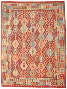 Kelim Afghan Old Style Matto 262X347 Itämainen Käsinkudottu Ruoste/Tummanbeige Isot (Villa, Afganistan)