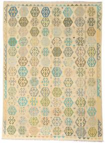 Kelim Afghan Old Style Matto 258X346 Itämainen Käsinkudottu Tummanbeige/Beige Isot (Villa, Afganistan)
