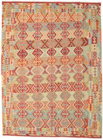 Kelim Afghan Old Style Matto 259X348 Itämainen Käsinkudottu Tummanbeige/Punainen Isot (Villa, Afganistan)