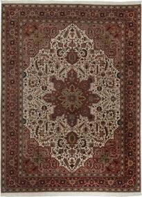 Tabriz 50 Raj Matto 300X400 Itämainen Käsinkudottu Tummanpunainen/Ruskea Isot (Villa/Silkki, Persia/Iran)
