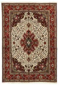 Tabriz 40 Raj Matto 147X206 Itämainen Käsinkudottu Tummanruskea/Vaaleanruskea (Villa/Silkki, Persia/Iran)