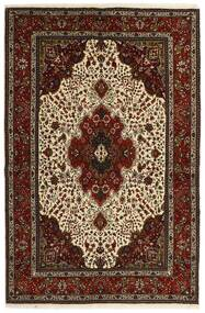 Tabriz 40 Raj Matto 151X221 Itämainen Käsinkudottu Tummanruskea/Beige (Villa/Silkki, Persia/Iran)