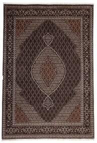 Tabriz 40 Raj Matto 200X300 Itämainen Käsinkudottu Tummanruskea/Vaaleanruskea (Villa/Silkki, Persia/Iran)