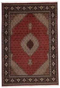 Tabriz 40 Raj Matto 205X296 Itämainen Käsinkudottu Tummanpunainen (Villa/Silkki, Persia/Iran)