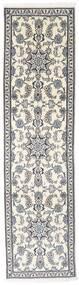 Nain Matto 74X290 Itämainen Käsinsolmittu Käytävämatto Vaaleanharmaa/Beige/Tummanharmaa (Villa, Persia/Iran)