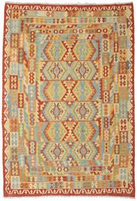 Kelim Afghan Old Style Matto 205X296 Itämainen Käsinkudottu Tummanbeige/Punainen (Villa, Afganistan)