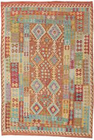 Kelim Afghan Old Style Matto 208X306 Itämainen Käsinkudottu Vaaleanruskea/Tummanbeige (Villa, Afganistan)