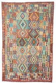 Kelim Afghan Old Style Matto 191X305 Itämainen Käsinkudottu Ruskea/Tummanbeige (Villa, Afganistan)