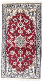 Nain Matto 68X129 Itämainen Käsinsolmittu Beige/Tummanpunainen (Villa, Persia/Iran)