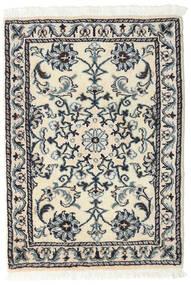 Nain Matto 60X90 Itämainen Käsinsolmittu Beige/Tummanharmaa (Villa, Persia/Iran)