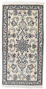 Nain Matto 70X140 Itämainen Käsinsolmittu Vaaleanharmaa/Musta (Villa, Persia/Iran)