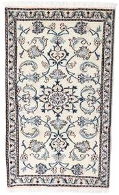Nain Matto 75X130 Itämainen Käsinsolmittu Vaaleanharmaa/Valkoinen/Creme (Villa, Persia/Iran)