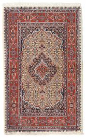 Moud Matto 74X119 Itämainen Käsinsolmittu Tummanpunainen/Beige (Villa/Silkki, Persia/Iran)