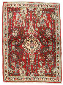 Senneh Matto 107X150 Itämainen Käsinsolmittu Tummanruskea/Ruoste (Villa, Persia/Iran)