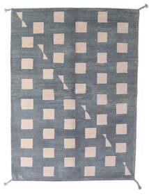 Gabbeh Indo Matto 150X206 Moderni Käsinsolmittu Tummanharmaa/Vaaleansininen (Villa, Intia)