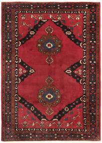 Shahrekord Matto 207X290 Itämainen Käsinsolmittu Tummanpunainen/Punainen/Tummanruskea (Villa, Persia/Iran)