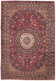 Moud Matto 210X300 Itämainen Käsinsolmittu Tummanpunainen/Tummanruskea (Villa/Silkki, Persia/Iran)