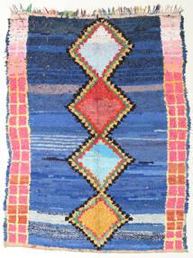 Berber Moroccan - Boucherouite Matto 172X220 Moderni Käsinsolmittu Sininen/Tummansininen ( Marokko)