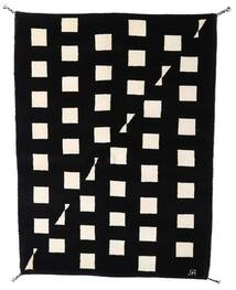Gabbeh Indo Matto 144X198 Moderni Käsinsolmittu Musta/Beige (Villa, Intia)