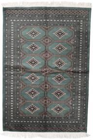 Pakistan Bokhara 2Ply Matto 140X204 Itämainen Käsinsolmittu Tummanharmaa/Tummanvihreä (Villa, Pakistan)
