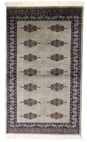 Pakistan Bokhara 2Ply Matto 91X153 Itämainen Käsinsolmittu Vaaleanharmaa/Tummanpunainen (Villa, Pakistan)