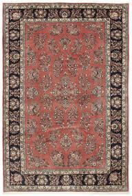 Sarough Matto 205X309 Itämainen Käsinsolmittu Tummanpunainen/Tummanruskea (Villa, Persia/Iran)