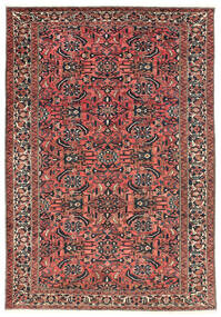 Bakhtiar Matto 220X311 Itämainen Käsinsolmittu Tummanpunainen/Musta (Villa, Persia/Iran)