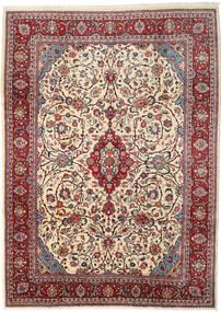 Sarough Matto 255X350 Itämainen Käsinsolmittu Beige/Vaaleanharmaa Isot (Villa, Persia/Iran)