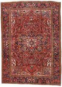 Heriz Matto 270X376 Itämainen Käsinsolmittu Tummanpunainen/Ruoste Isot (Villa, Persia/Iran)