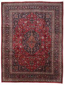 Mashad Matto 309X373 Itämainen Käsinsolmittu Tummanpunainen/Tummanruskea Isot (Villa, Persia/Iran)