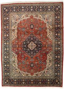 Tabriz Matto 296X400 Itämainen Käsinsolmittu Tummanruskea/Vaaleanruskea Isot (Villa, Persia/Iran)