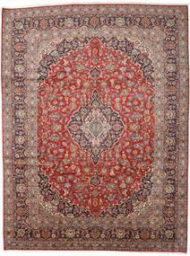 Keshan Matto 300X394 Itämainen Käsinsolmittu Tummanpunainen/Tummansininen Isot (Villa, Persia/Iran)