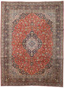 Keshan Matto 313X418 Itämainen Käsinsolmittu Vaaleanruskea/Tummanharmaa Isot (Villa, Persia/Iran)