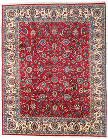 Mashad Matto 300X380 Itämainen Käsinsolmittu Tummanpunainen/Beige Isot (Villa, Persia/Iran)