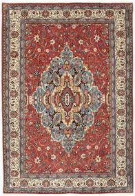 Sarough Matto 200X296 Itämainen Käsinsolmittu Tummanpunainen/Vaaleanharmaa (Villa, Persia/Iran)