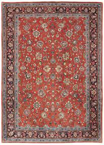 Sarough Matto 214X302 Itämainen Käsinsolmittu Tummanpunainen/Vaaleanharmaa (Villa, Persia/Iran)