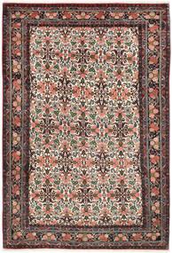 Bidjar Matto 200X302 Itämainen Käsinsolmittu Tummanpunainen/Tummanruskea (Villa, Persia/Iran)