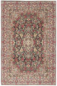 Kerman Matto 202X303 Itämainen Käsinsolmittu Tummanharmaa/Beige (Villa, Persia/Iran)