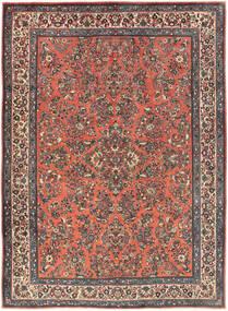 Sarough Matto 225X311 Itämainen Käsinsolmittu Tummanpunainen/Tummanharmaa (Villa, Persia/Iran)