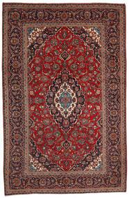 Keshan Matto 200X306 Itämainen Käsinsolmittu Tummanpunainen/Musta (Villa, Persia/Iran)