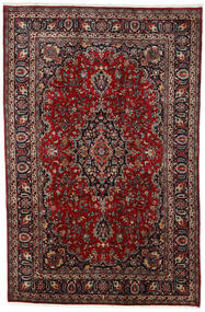Mashad Matto 195X297 Itämainen Käsinsolmittu Tummanpunainen/Musta (Villa, Persia/Iran)
