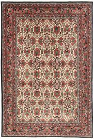 Bidjar Matto 218X317 Itämainen Käsinsolmittu Tummanruskea/Tummanpunainen (Villa, Persia/Iran)
