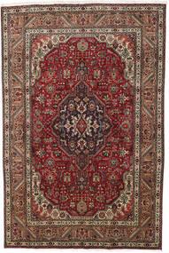 Tabriz Matto 193X290 Itämainen Käsinsolmittu Tummanruskea/Tummanpunainen (Villa, Persia/Iran)
