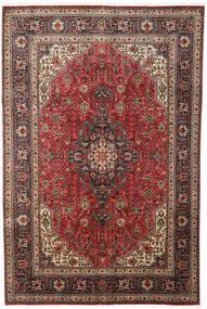 Tabriz Matto 197X300 Itämainen Käsinsolmittu Tummanruskea/Vaaleanruskea (Villa, Persia/Iran)