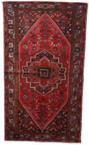 Hamadan Matto 133X236 Itämainen Käsinsolmittu Tummanpunainen (Villa, Persia/Iran)