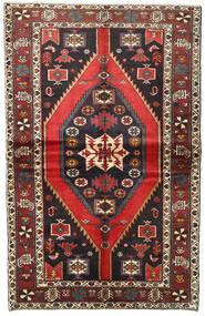 Hamadan Matto 140X223 Itämainen Käsinsolmittu Tummanpunainen/Musta (Villa, Persia/Iran)