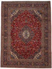 Keshan Matto 298X395 Itämainen Käsinsolmittu Tummanpunainen/Tummanruskea Isot (Villa, Persia/Iran)