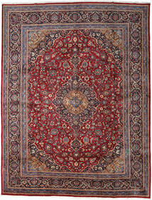 Keshan Matto 297X384 Itämainen Käsinsolmittu Tummanpunainen/Tummanruskea Isot (Villa, Persia/Iran)