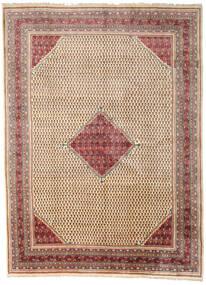 Sarough Mir Matto 281X382 Itämainen Käsinsolmittu Vaaleanruskea/Beige Isot (Villa, Persia/Iran)