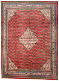 Sarough Mir Matto 292X393 Itämainen Käsinsolmittu Tummanpunainen/Tummanharmaa Isot (Villa, Persia/Iran)